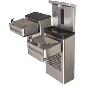 HAWS 1212S Wall Mount Hi-Lo ADA Water Cooler Drinking Fountain with Bottle Filler