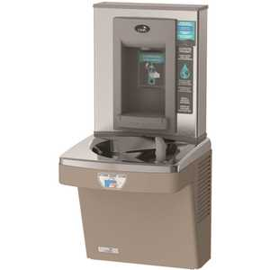 OASIS PGEBFT Contactless, Hands Free Single Level Drinking Fountain, non-refrigerated, ADA, with Contactless Bottle Filler, Sandstone