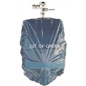 Colonial Bag UC3858BP 38 in. x 58 in. 1.5 mil Blue Urinal Cover