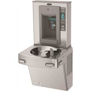 OASIS 504441 Refrigerated ADA Stainless Steel Energy/Water Efficient Single Level Drinking Fountain with Manual Bottle Filler
