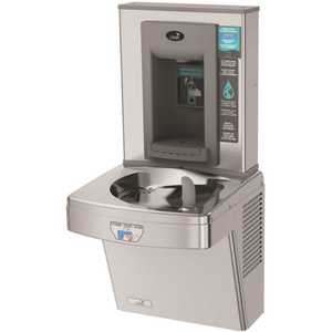 OASIS PGEBFT STN Refrigerated ADA Stainless Steel Contactless Single Level Drinking Fountain with Bottle Filler