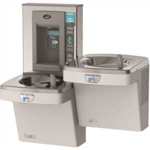 OASIS PGF8EBFSLTT STN Refrigerated ADA Stainless Steel Bi-Level Drinking Fountain Filtered with Contactless Bottle Filler