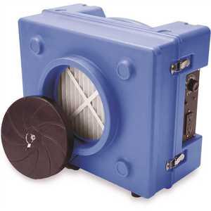 B-Air BA-RA-650-BL 1/3 HP 2.5 Amp HEPA Air Scrubber Purifier for Water Damage Restoration Negative Air Machine in Blue