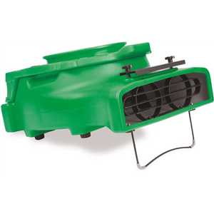 B-Air BA-VL-25-GN 1/4 HP Low Profile Air Mover for Water Damage Restoration Carpet Dryer Floor Blower Fan in Green