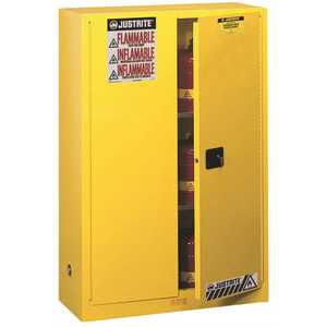 SAFETY STORAGE CABINET, 45 GALLON, 65 IN. X 43 IN. X 18 IN., SELF-CLOSE
