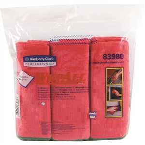 15.75 in. x 15.75 in. Red Reusable Microfiber Cloths (, 6 Wipes/Container, )