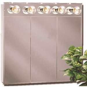 American Pride TM50 Tm Series 24 in. Beveled Mirror Lighted Tri-View Medicine Cabinet