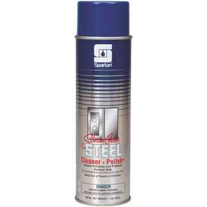 Spartan Chemical Co. 631000 16oz. Aerosol Can Lemon Scent Stainless Steel Cleaner - Polish