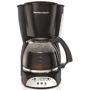HAMILTON BEACH 49465R 12 CUP DIGITAL COFFEE MAKER, BLACK