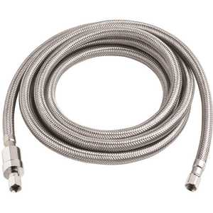Burst Protect 7253-120-14-2-BP 1/4 in. x 1/4 in. x 120 in. SS Icemaker Connector