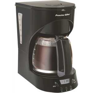 PROCTOR-SILEX 43574Y 12-Cup Programmable Black Drip Coffee Maker with Automatic Shut-Off