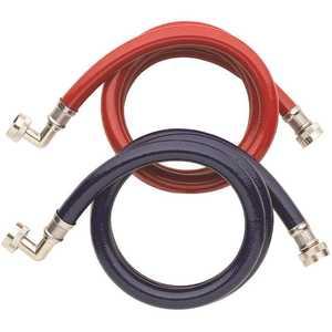 Homewerks Worldwide HRBFIL07B High Burst 3/4 in. x 3/4 in. x 72 in. with 90-Degree Elbows SS High Efficency Washing Machine Connector