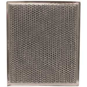 All-Filters GC-5107 9 in.x 10-1/2 in.x 1/8 in. DISH Aluminum Mesh/Charcoal Range Hood Filter for Parts WB2X8406,WB02X10700,WB02X8406