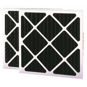 Flanders 81255.042424-XCP6 MERV 6 PLEATED ACTIVATED CARBON AIR FILTER, CHARCOAL, 24X24X4 IN - pack of 6