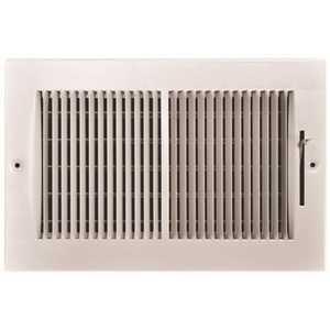 TruAire 132M 10X06 10 in. x 6 in. 2-Way Steel Wall/Ceiling Register 1/3 in. Fin Spacing