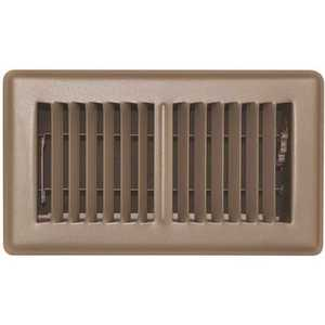 TruAire 150MB 06X14 STAMPED FACE FLOOR REGISTER, 6 IN. X 14 IN., BROWN
