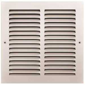 TruAire 170 10X10 10 in. x 10 in. White Stamped Return Air Grille