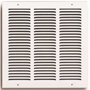 TruAire 170 14X14-4 14 in. x 14 in. White Stamped Return Air Grille with 4 screw holes