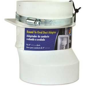 Everbilt R2OZW 4 in. Round to Oval Dryer Duct Adapter