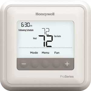 Honeywell Home TH4110U2005 T4 Pro 7-Day, 5-1-1 or 5-2 Day Non-Programmable Thermostat with 1H/1C Single Stage Heating and Cooling