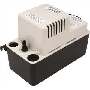 Little Giant VCMA-20ULS 115V 60HZ 11 in. x 5 in. x 7 in. 115-Volt Automatic Condensate Removal Pump with 6 ft. Cord 80 GPH