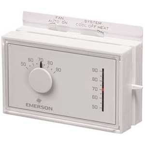 Emerson 1E56N-444 Mercury-Free Mechanical Thermostat for Heat Pump Systems