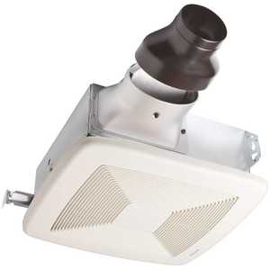 Broan-NuTone LP80 LoProfile 80 CFM Ceiling/Wall Bathroom Exhaust Fan with 4 in. Oval Duct or 3 in. Round Duct, ENERGY STAR*