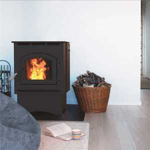 Pleasant Hearth PH35PS 1,750 sq. ft. Pellet Stove with 40 lbs. Hopper and Auto Ignition