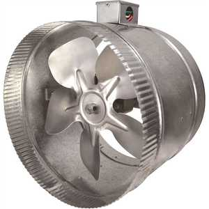 Suncourt DB310E 10 in. 2-Speed Inductor Inline Duct Fan with Electrical Box