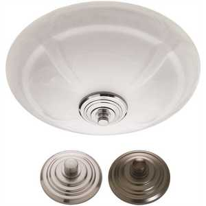Tosca 7106-03 Decorative 80 CFM Ceiling Bathroom Exhaust Fan with LED Light and White Globe