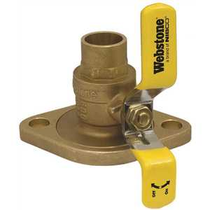 3/4 in. Forged Brass Lead-Free Sweat Isolator Full Port Ball Valve with Rotating Flange and Adjustable Packing Gland