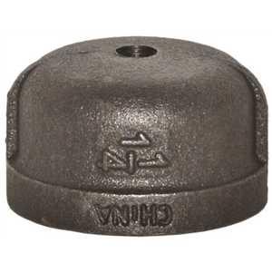 Plumbers Edge PE902 1-1/4 in. x 1/8 in. Tapped Black Cap