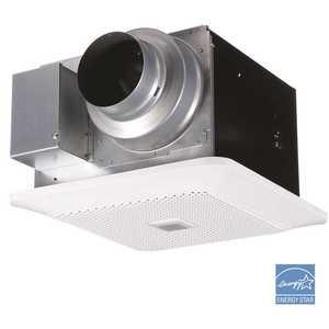 Panasonic FV-0811RQC1 WhisperChoice AutoPick-A-Flow 80/110 CFM Ceiling Bathroom Exhaust Fan with Motion/Humidity Sense and Flex-Z Fast Bracket
