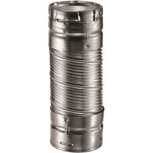 DuraVent 3DV12DW DuraConnect 3 in. Dia x 12 in. Double-Wall Flex Connector