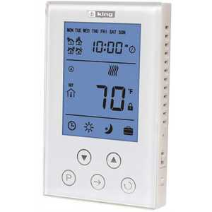 King Electric K302PE Thermostat 7-Day Programmable, Double Pole 120/208/240-Volt 15 Amp