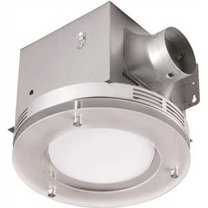 Tosca 7117-02-BN Decorative Brushed Nickel 80 CFM Ceiling Mount Bathroom Exhaust Fan with LED Light