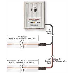 LEAK KING ACDP-A Airconditioner Condensate Drip Pan and Hot Water Heater Alarm