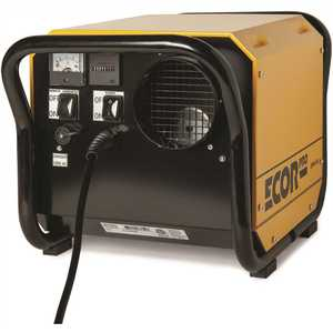 Ecor Pro EPD150 150 Pint Portable Industrial Desiccant Dehumidifier for Basement, Crawl Space, Whole House and Warehouses - Yellow