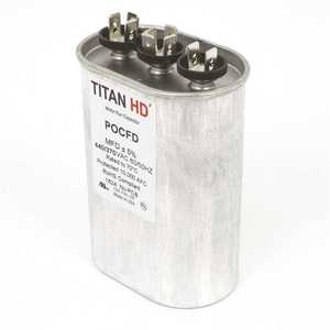 TITAN HD POCFD505A 50+5 MFD 440/370-Volt Oval Run Capacitor