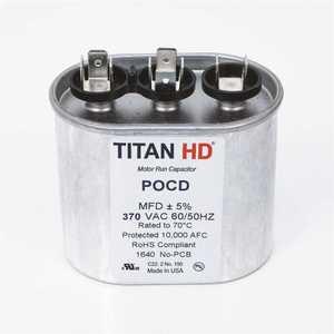 TITAN HD POCFD205A 20+5 MFD 440/370-Volt Oval Run Capacitor