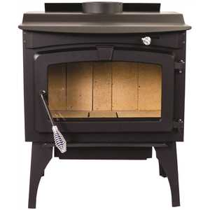 Pleasant Hearth GWS-1800-B Medium 1,800 sq. ft. 2020 EPA Certified Wood Burning Stove with Legs and Blower