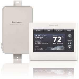 Honeywell Safety YTHX9421R5127WW Prestige 7, 5-2, 5-1-1 Day Programmable Thermostat and Internet Gateway IAQ Kit