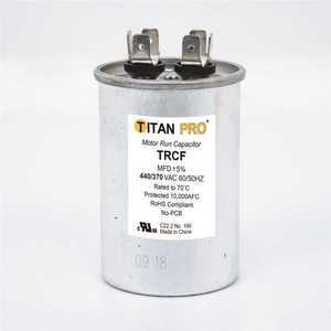 TITAN TRCF15 15 MFD 440/370-Volt Round Run Capacitor