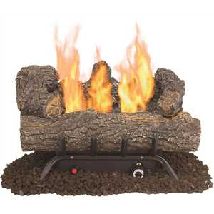 Pleasant Hearth VFL2-SO18DT Southern Oak 19.75 in. Vent-Free Dual Fuel Gas Fireplace Logs