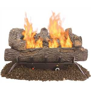 Pleasant Hearth VFL2-SO24DT Southern Oak 24.25 in. Vent-Free Dual Fuel Gas Fireplace Logs