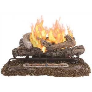 Pleasant Hearth VFL2-VO30DR Valley Oak 30 in. Vent-Free Dual Fuel Gas Fireplace Logs with Remote