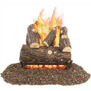 Pleasant Hearth VL-WO18D Willow Oak 18 in. Vented Gas Log Set