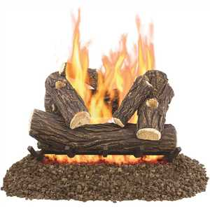 Pleasant Hearth VL-WO24D Willow Oak 24 in. Vented Gas Log Set