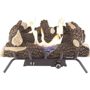 Pleasant Hearth VFL2-WW24DT Wildwood 24 in. Vent-Free Dual Fuel Gas Fireplace Logs