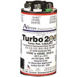GLOBAL SOURCE TURBO 200 TURBO 200 CAPACITOR, 2.5-67.5 MFD, 370 / 440 VAC